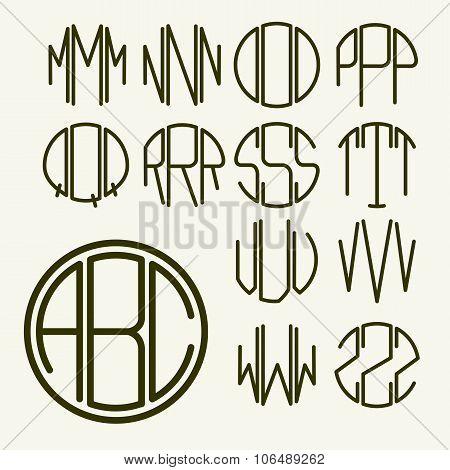 Art Nouveau style alphabet