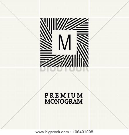Stylish graceful monogram in Art Nouveau style