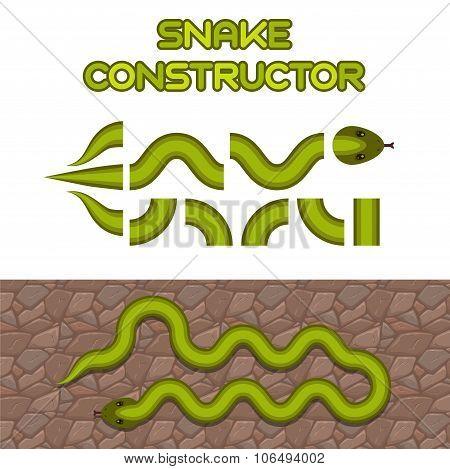Green snake body elements