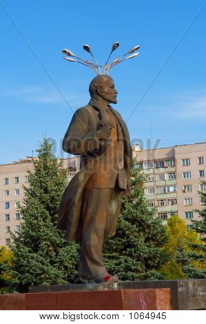 When Background Meets Foreground: Soviet-Time Monument To Lenin