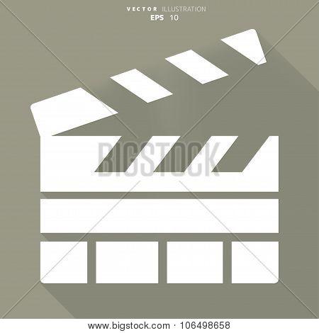 Clapperboard icon. Film , cinema, movie symbol