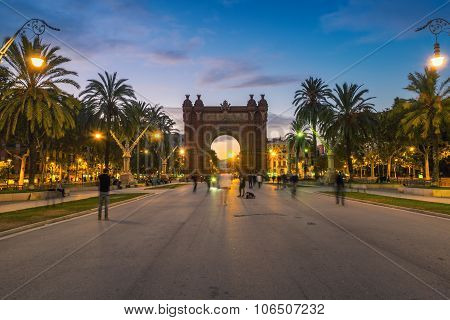 Arch of Triumph in Barcelona