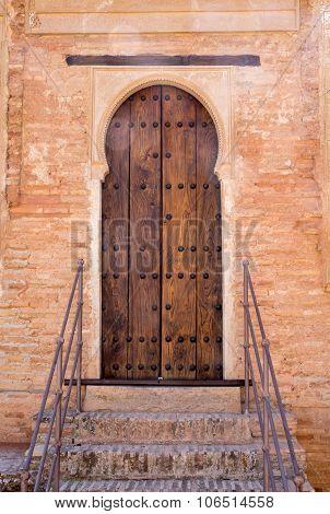 Arabic Inscribed Doorway Alhambra Palace Granada