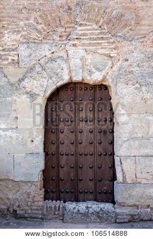 Solid Wooden Door And Doorway