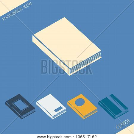 Simple icons of various photobook cover