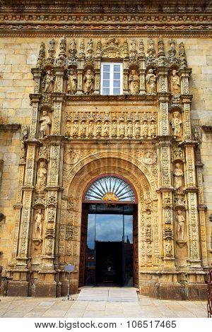 Santiago de Compostela Parador in Obradoiro Plaza end of Saint James Way in Galicia Spain