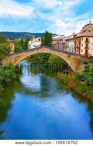 Estella bridge in Way of Saint James at Navarra Spain