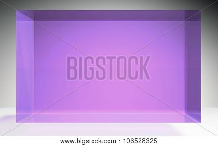 Futuristic Cube Crystal Display Panel Purple