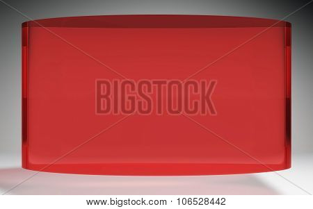 Futuristic Liquid Crystal Display Panel Red