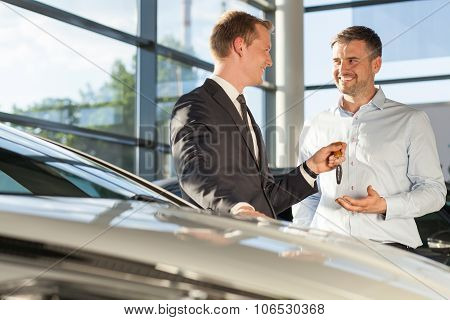 Car Dealer Selling Car