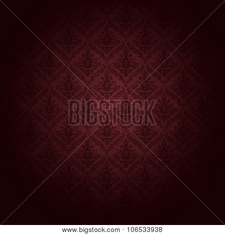 beautiful red wallpaper patter: baroque-style.  also an elegant wrapping paper or background for christmas.