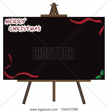Christmas Giant Blackboard On Easel