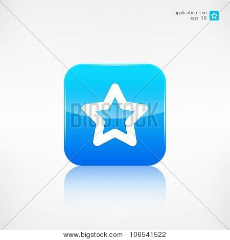 Star favorite sign web icon. Application button. poster
