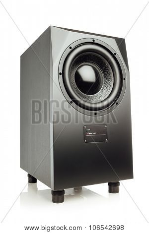 professional studio subwoofer speaker isolated on white