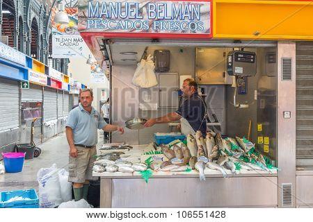 Fishmonger And Customer