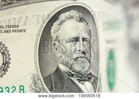 Ulysses Grant american president on 50 dollar bill