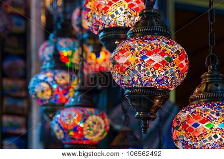 Colorful Turkish Islamic Hanging Lanterns