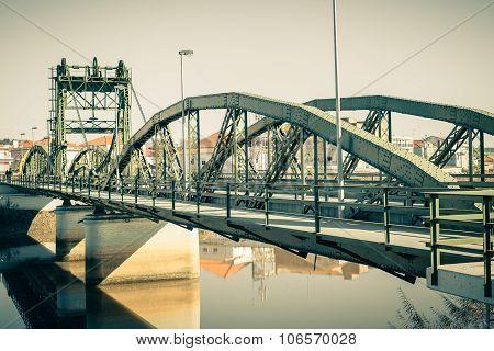 Bridge Over Sado River. Alcacer Do Sal, Portugal