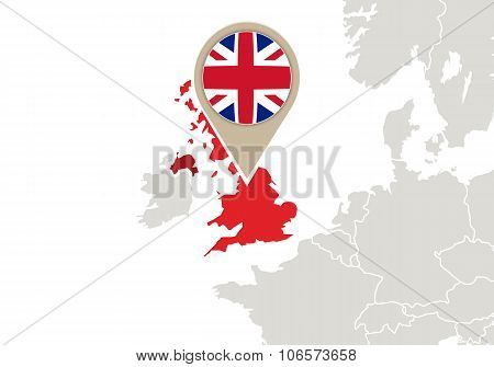United Kingdom On Europe Map