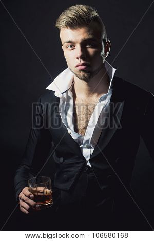 Man With Alcohol