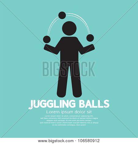 Juggling Balls Symbol.