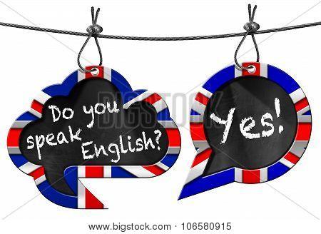 Do You Speak English - Two Speech Bubbles