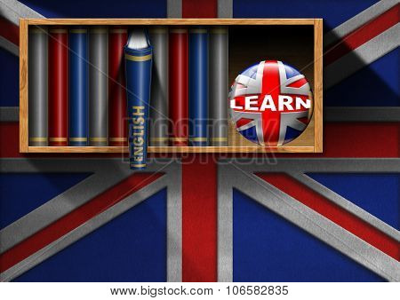 Learn English - Bookcase With English Book