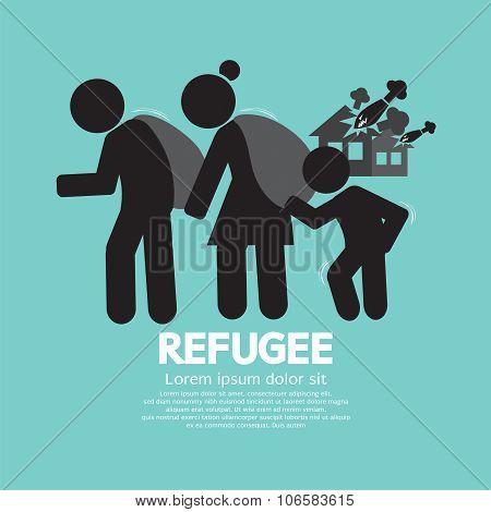 Refugees Evacuee Symbol.