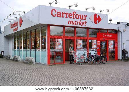 Carrefour market in Belgium