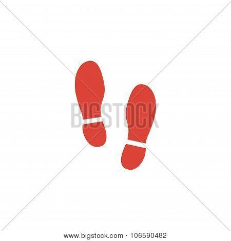 Imprint Soles Shoes Icon.shoes Print Icon.vector Illustration
