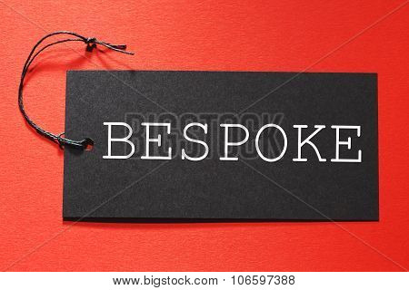Bespoke Text On A Black Tag