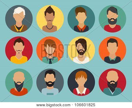 Man vector illustration web userpic.