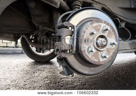 Replacing Wheels On A Car, Closeup Photo