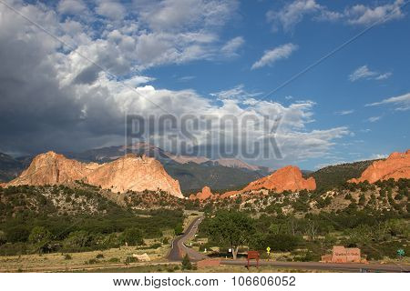 Cloudy summer day at Garden of the Gods