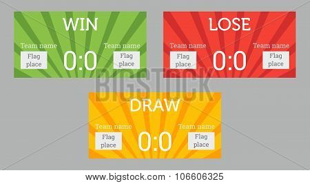 Win, lose and draw patterns