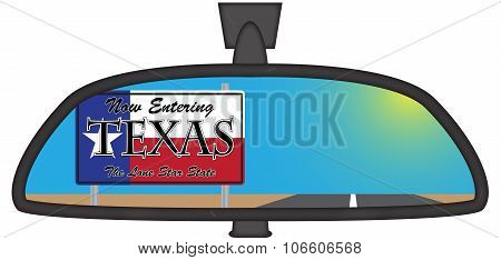Texas In Chunky Rear View Mirror
