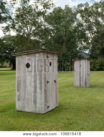 Pair Of Outhouses