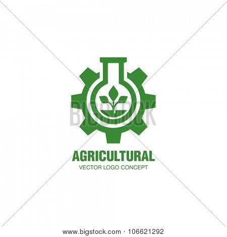 Agricultural Industrial Vector Logo