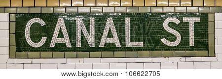 Canal Street Subway Station In Manhattan