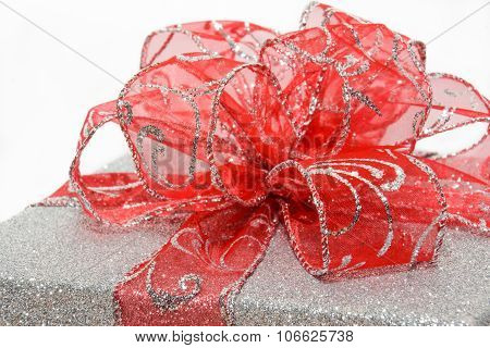 Red Bow Closeup