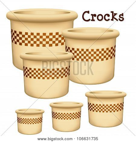 Crocks With Check Design