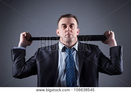 male gangster with baseball bat on a gray background poster