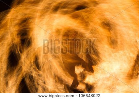 shadow of a man on fire