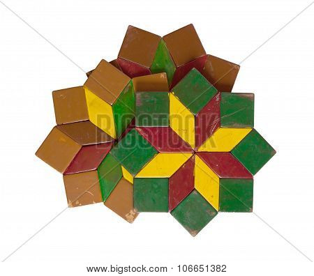 Collection Of Colorful Coasters Isolated