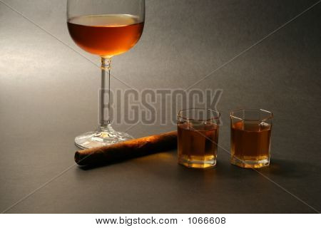 Cigar And Alcohol