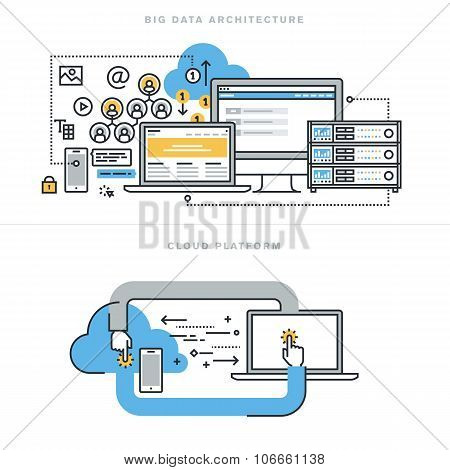 Flat line design concepts for big data architecture and cloud computing