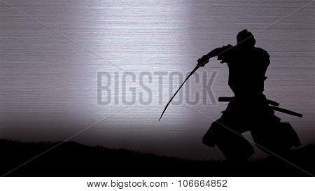 Silhouette of a samurai