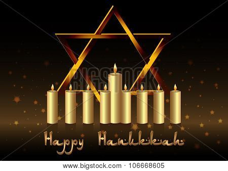 Postcard For Congratulations With Festival Of Lights Hanukkah