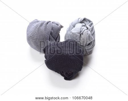 Black grey white clean socks