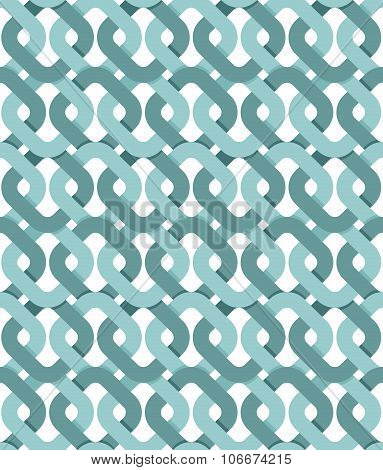 Interweaving Seamless Pattern. Abstract Background Of Knitted Tapes.